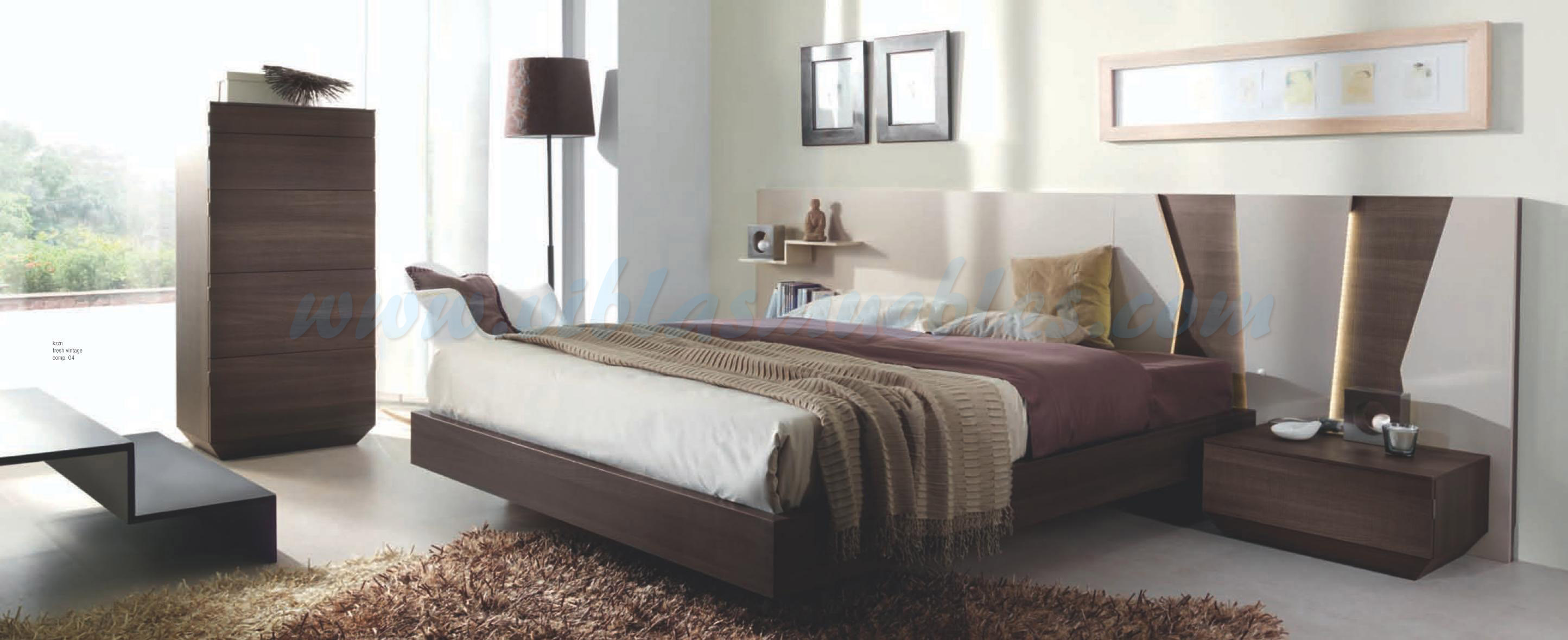 Dormitorio matrimonio muebles viblas tienda en valencia for Medidas dormitorio matrimonio